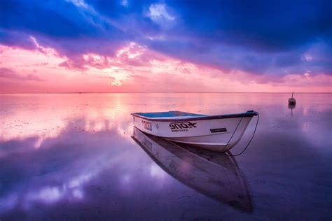 Fondo de Pantalla de Barca, Bote, Playa, Océano, Horizonte