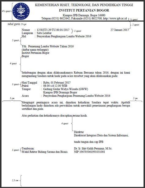 Penulisan Surat Undangan Yang Benar by Cara Penulisan Nip Pada Surat Dinas Arsip S