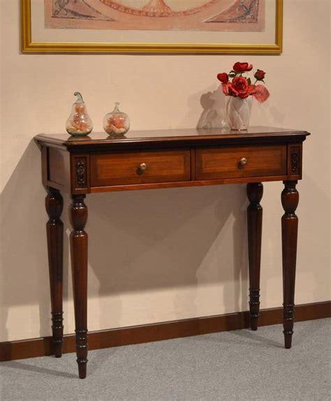 consolle per ingresso classiche consolle classica di lusso in legno con 2 cassetti