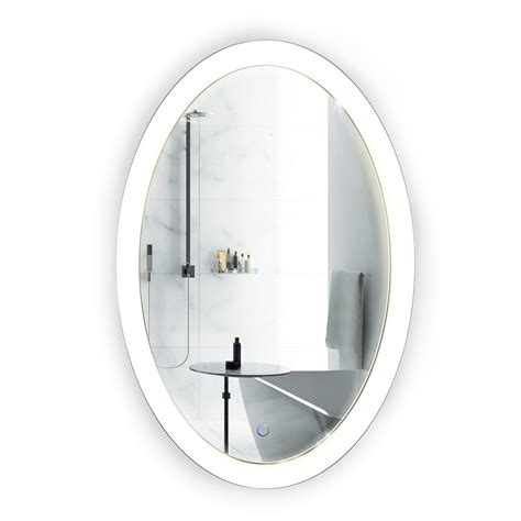 20 x 30 bathroom mirror led 20 quot x30 quot oval bathroom mirror lighted with dimmer