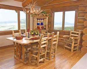 Log Dining Room Furniture Rustic Log Dining Room Furniture Aspen Log Dining Room Tables Chairs
