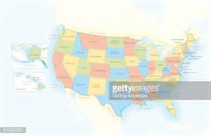 map of united states of america separate boxes showing