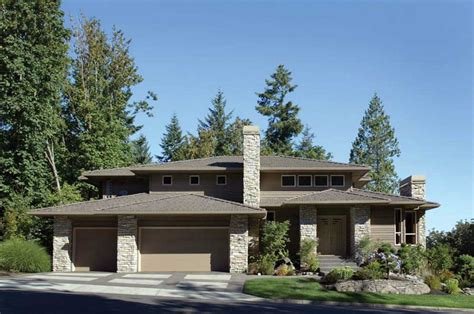 prairie style home plans with crumbling and wall ideas home interior exterior