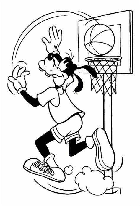 disney coloring pages widget disney goofy basketball coloring pages cartoon coloring