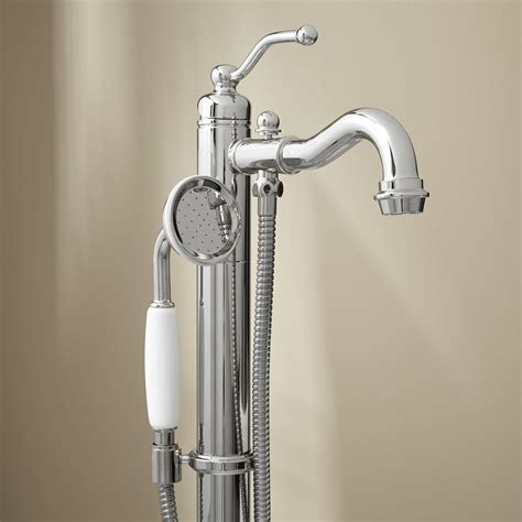 bathtub faucet leta freestanding tub faucet with hand shower bathroom