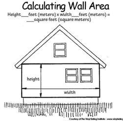 house area calculator how do i calculate how much vinyl siding i need