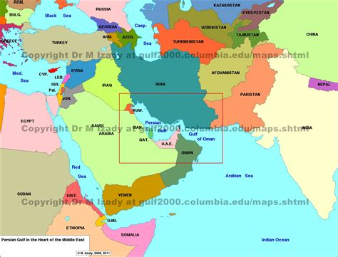 middle east map gulf middle east maps the gulf 2000 project sipa columbia