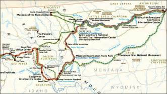 Lewis And Clark Route Map by Pics Photos Map Of The Lewis Clark Expedition National
