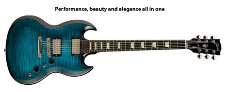 Best 4 Sg Gibson Gibson Usa Sg Carved Top Blue Burst