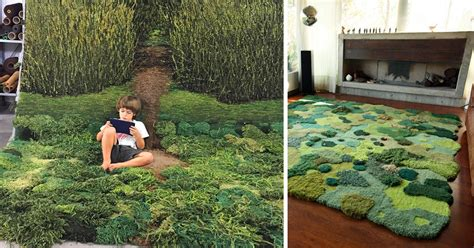 grass looking rug one of wool rug artworks by alexandra kehayoglou mimic rolling pastures and mossy textures