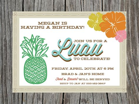 free printable hawaiian luau invitations printable luau birthday invitation by printyourheartout