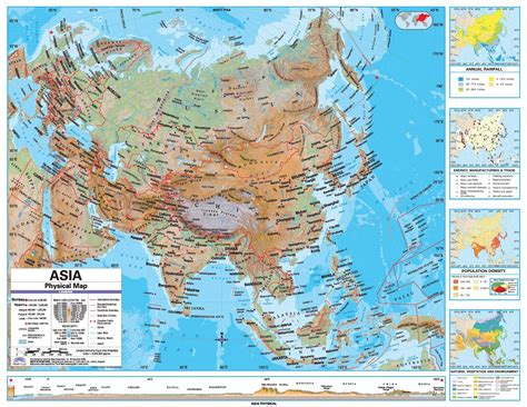 east asia physical map maps asia physical map