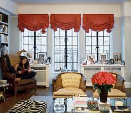 Balloon curtains antonia thompson seated in a leather wingback chair