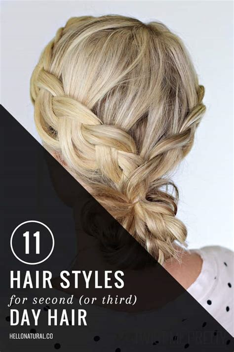 cute hairstyles second day hair 11 gorgeous second day hairstyles hellonatural co