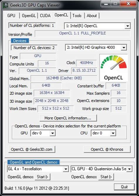 opengl driver update intel intel hd graphics driver v2712 for sandy and ivy bridge