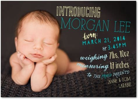 Text Baby Announcement Baby Boy Announcement Tiny Prints Cool Typography