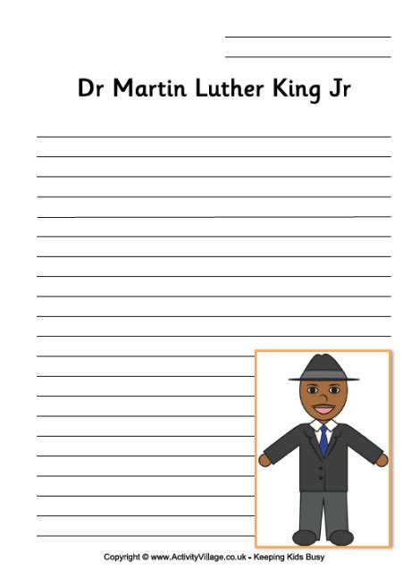 Martin Luther King Jr I A Essay by Search Results For Blank Mlk Writing Pages Calendar 2015