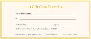 Make Your Own Vouchers Template by Make Your Own Gift Vouchers Template Free 9 Best