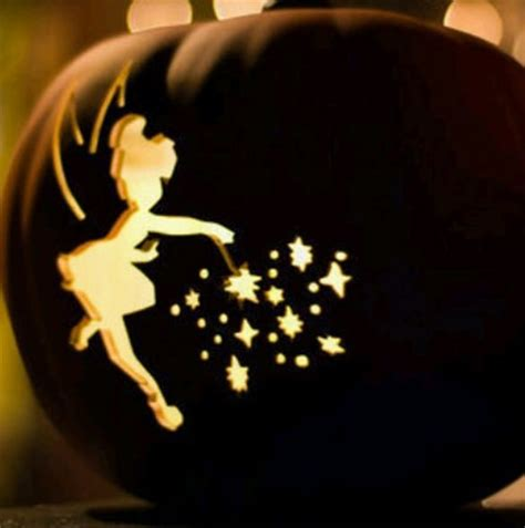 tinkerbell pumpkin carving templates 16 printable tinkerbell pumpkin templates designs