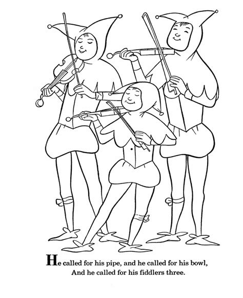 free coloring pages of king cole