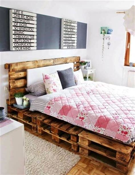 pallet bed frame ideas 1000 ideas about pallet bed frames on pinterest bed