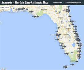 Shark Attacks In Florida Map by Every Florida Shark Attack On One Map