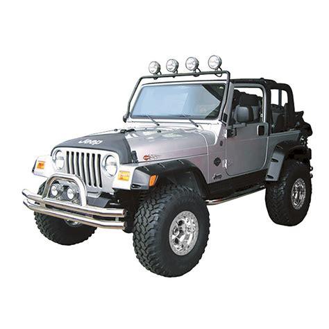 Light Bar Jeep Wrangler New Rugged Ridge Frame Light Bar 97 06 Tj Wrangler Lj