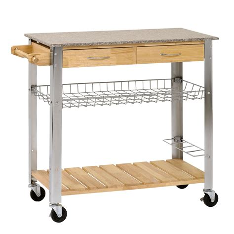 metal kitchen cart with drawers new kitchen trolley rolling cart wood steel legs 2 storage