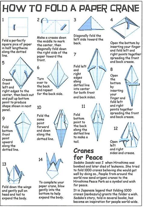 How To Fold An Origami Crane - 7 best origami images on