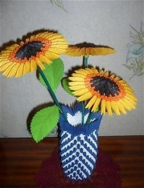3d Origami Sunflower - 3d origami origami and sunflowers on