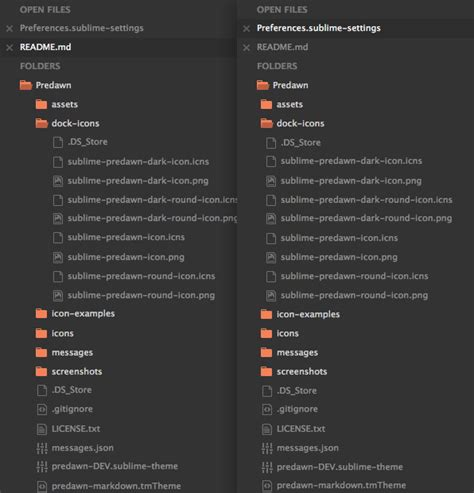 sublime text 3 themes location github jamiewilson predawn predawn is a dark interface