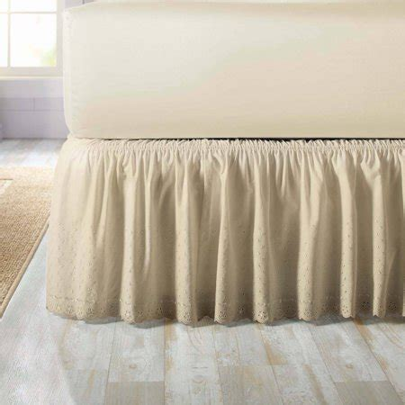better homes gardens eyelet adjustable bed skirt 1 each walmart