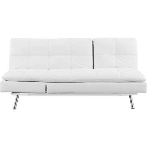 serta chaise serta palermo convertible white leather sleeper chaise