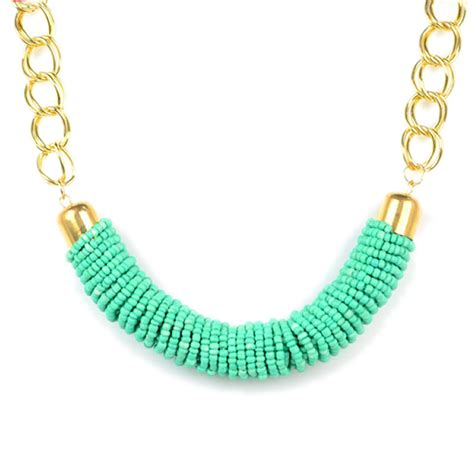 turquoise seed bead necklace handmade turquoise seed bead choker necklace