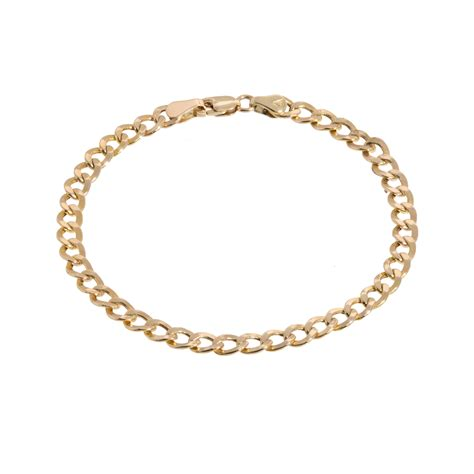 14k gold cuban link bracelet stoned by suzy