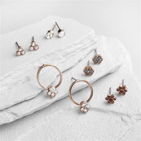 Dainty Set dainty gold earrings set of 5 world market
