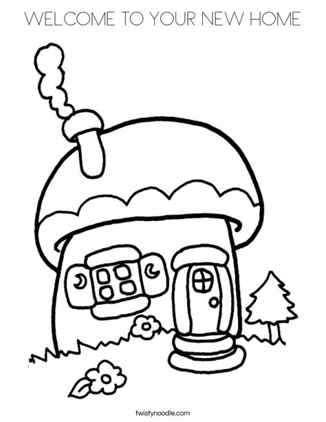 Welcome To Your New Home Coloring Page Twisty Noodle Welcome Home Coloring Pages