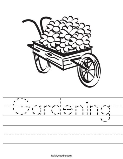 in the garden coloring book books gardening worksheet twisty noodle