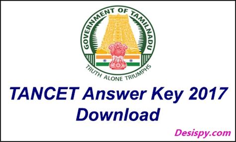 Tancet Mba Syllabus 2017 by Tancet Answer Key 2018 For Mba Mca Mtech