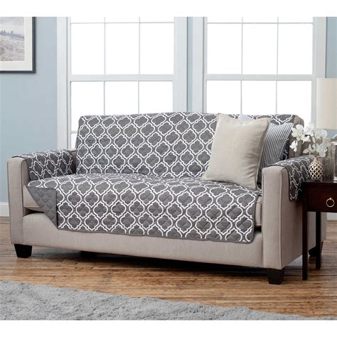 Sofa T Cushion Slipcover Gray T Cushion Chair Slipcover Surefit 41460 2 Stretch