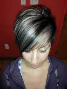 Grey hair and highlights lowlightshairstyles colors grey hair gray