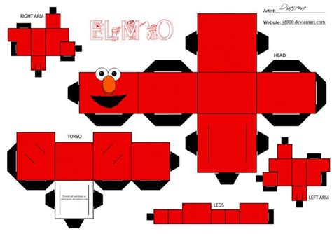 Paper Toys Origami - elmo by cubee acres on deviantart ideas