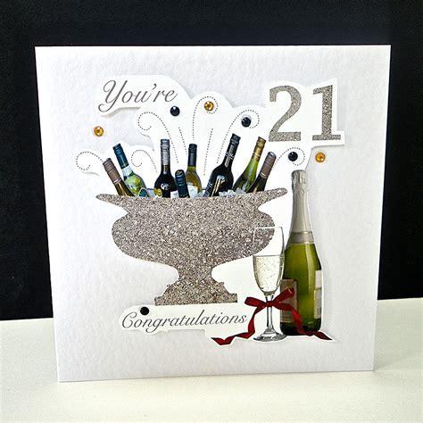 Celebration Bottles 21st Birthday Card   Decorque Cards