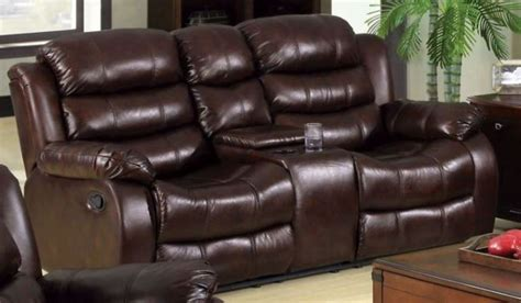 Rustic Reclining Sofa Berkshire Rustic Brown Reclining Loveseat With Console From Furniture Of America Cm6551l Bt