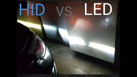 hid le hid vs led light bulb