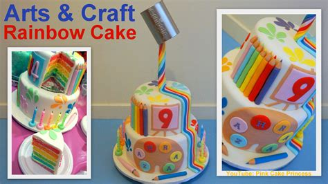craft cake gravity defying back to cake arts craft rainbow