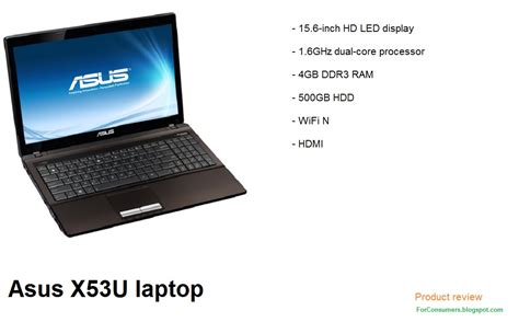 Laptop Asus High Spec asus x53u sx155v laptop specs and review test and review
