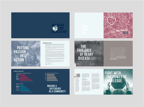 business report layout design annual report