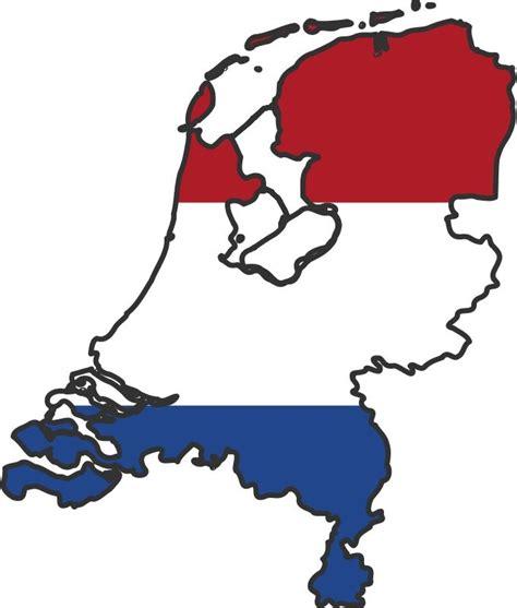 netherlands map and flag netherlands flag map white and blue bleu blanc