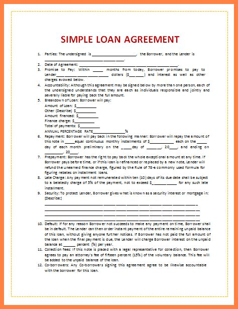collateral loan agreement template 7 personal loan agreement with collateral purchase